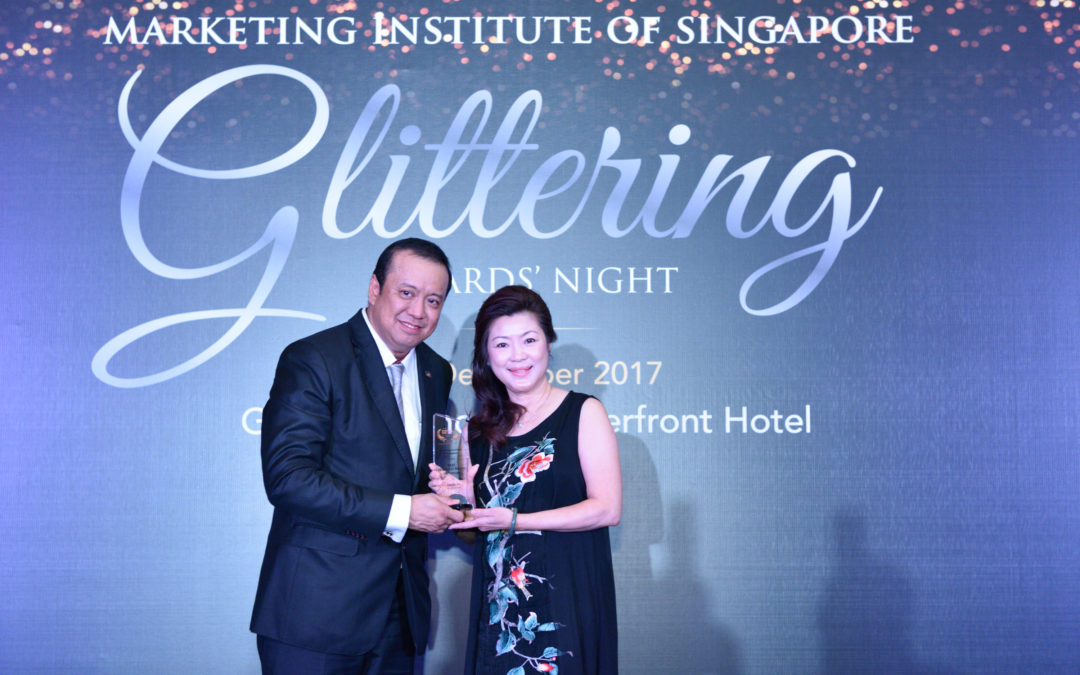 Angeline V Teo received the prestigious Best Personal Brand Award 2017 (Executive Coach) from the Marketing Institute of Singapore